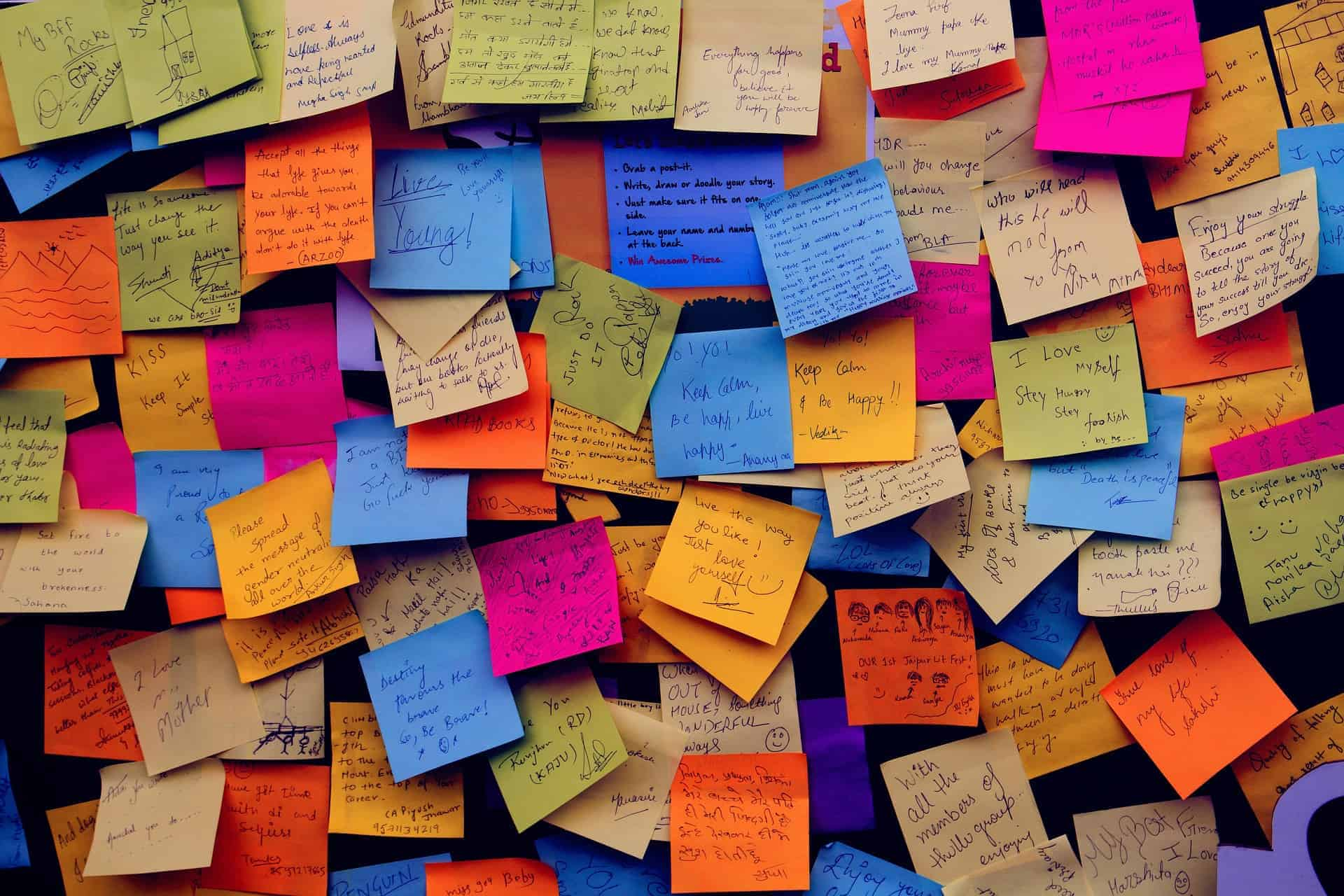 Motivational Sticky Notes, How Inspirational Quotes & Mantras Can Make You Happy, Made You Smile, Made You Smile Back